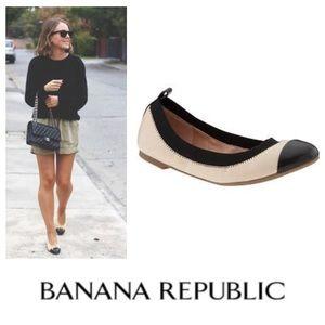 Banana Republic Aida cap-toe leather ballet flat